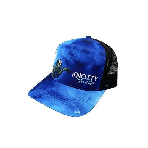 Sea Turtle Snapback Hat Black - KnottyTails