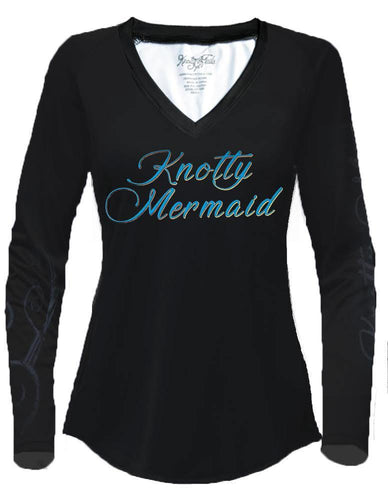 Women's V-neck Knotty Mermaid Performance Shirt