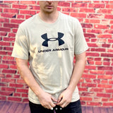 Under Armour Round Neck Tee Shirt in Cream