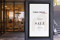 retail store signage design and promotional poster