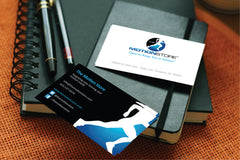 rehabilitation physical therapy equipment store business card design