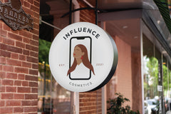 cosmetic company logo design and sign