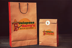 mexican restaurant logo design and takeout bags