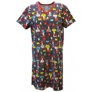 Women 'Santa Claws & Paws' Holiday V-Neck Sleep Shirt Nightgown