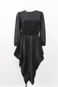 Sheer Draped Dress Joan Leslie