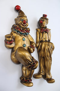 Vintage Gold Ceramic Clowns