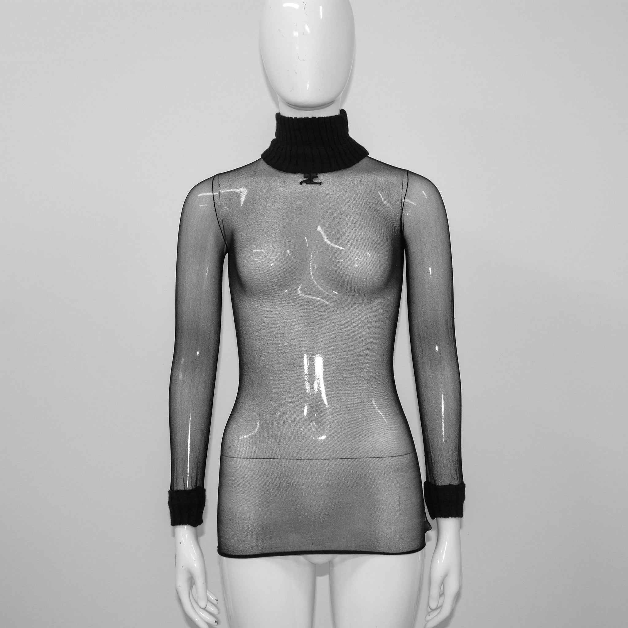 Mesh Long Sleeve Blouse Andre Courreges