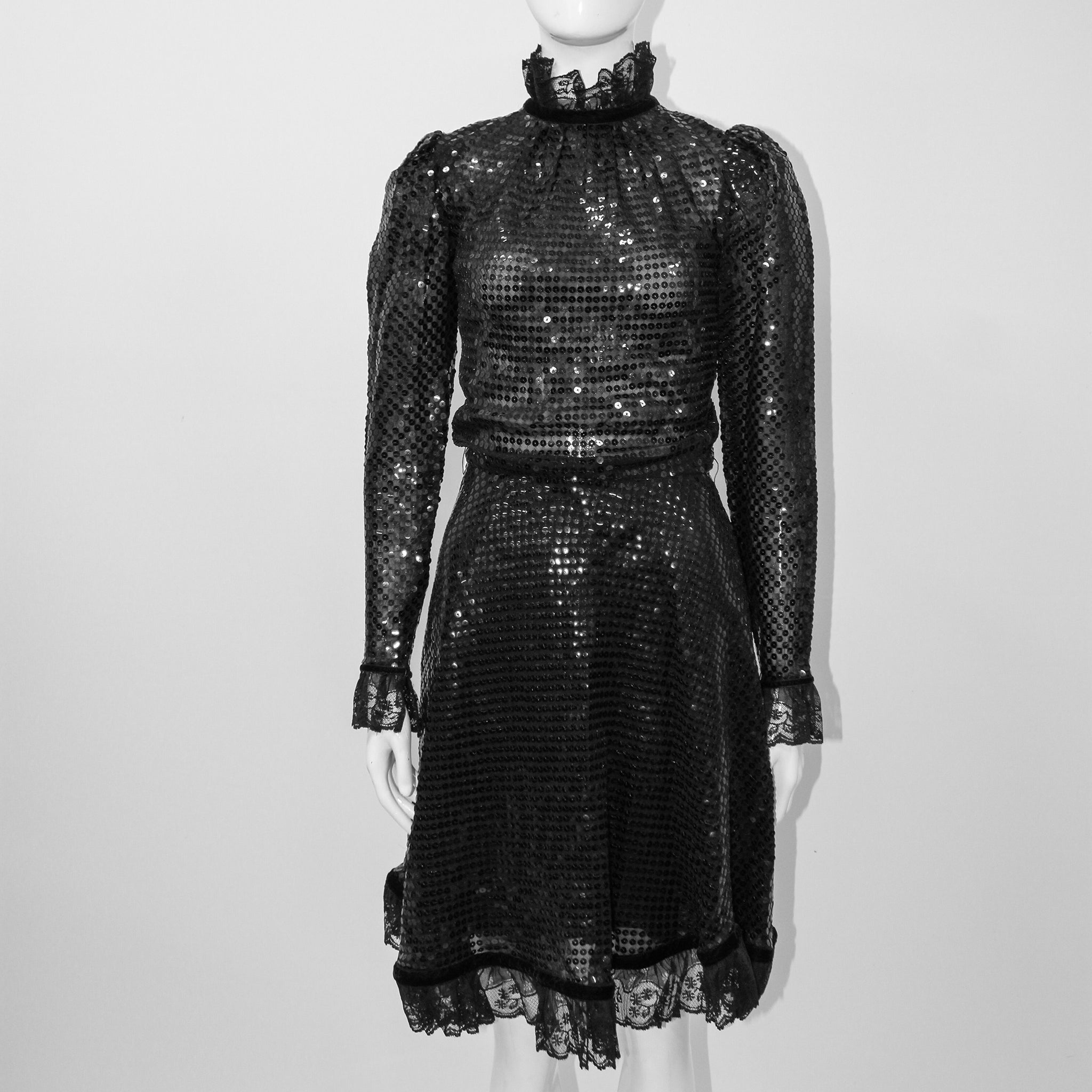 Sequin Black Dress Givenchy Nouvelle Boutique Paris