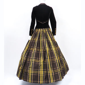 Velvet Plaid Ball Gown Escada Couture