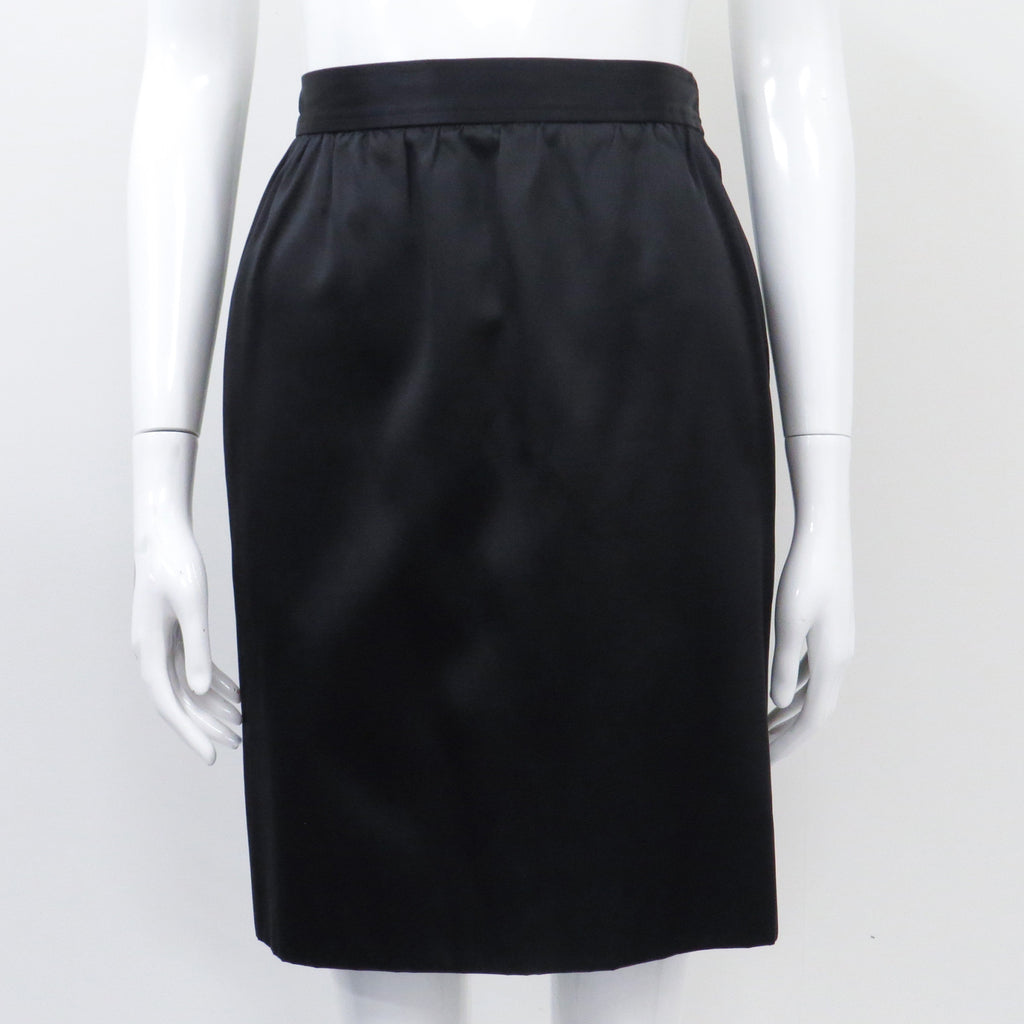 Saint Laurent Silk Pencil Skirt