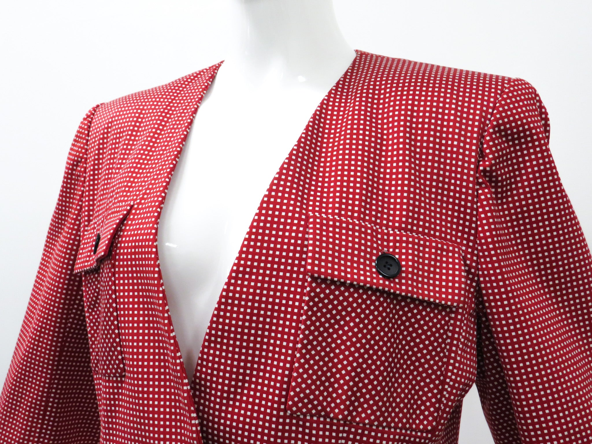 Bill Blass Checkered Blazer