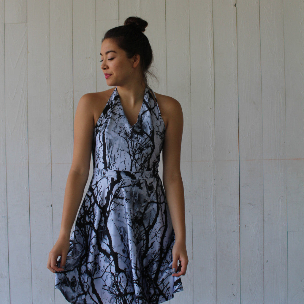 Marbleized Tango Halter Dress