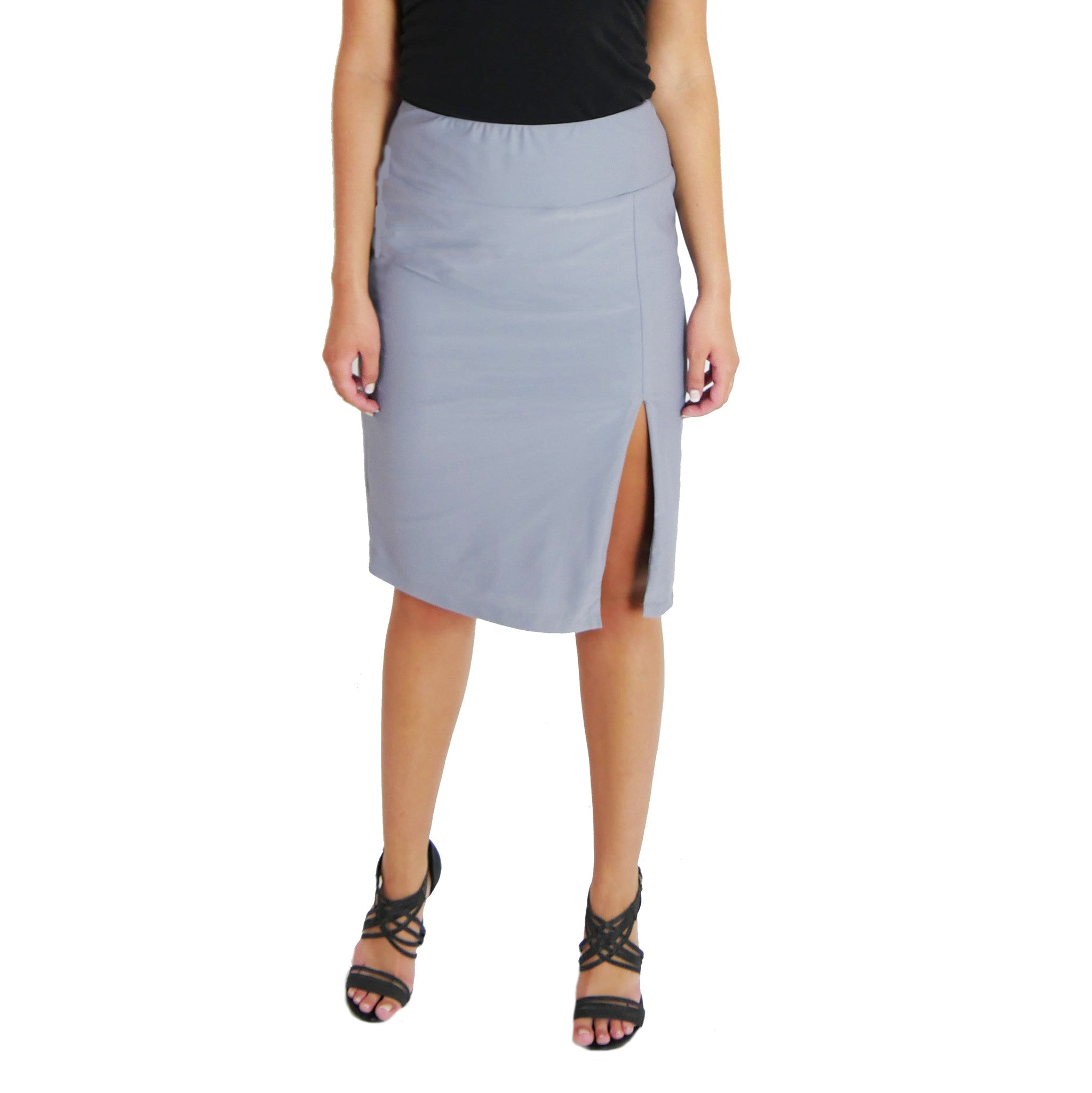Grey Work Skirt