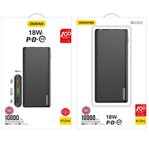 18W Universal Power Bank - 10,000 mAH