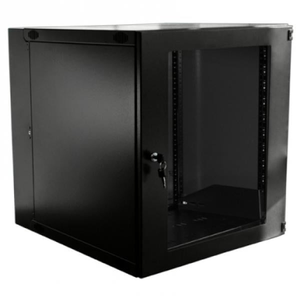 12U Double Hinged Swing Out Wall Mount Cabinet