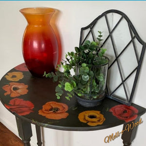 Poppy - Half Moon table