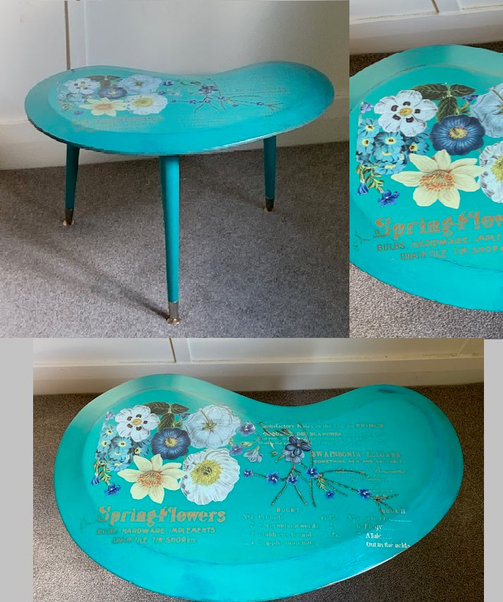 Retro Kidney Shaped Side Table
