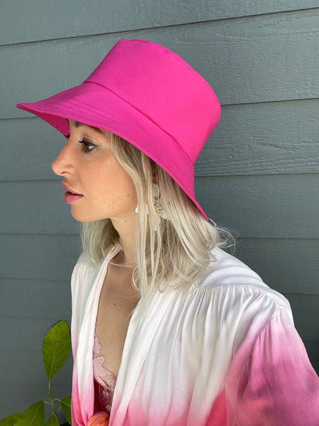 Summer Hat in Fuchsia