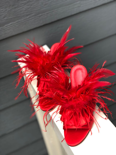 Red Feather Sandals