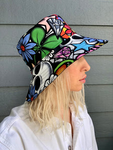 Unisex Summer Hat, Reversible Bucket Hat