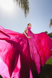 Pink Dress Made of Silk, Prom Dress