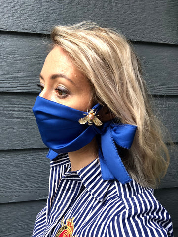 BEST SELLER Designer Face Mask for Woman, Thinking of You, Blue