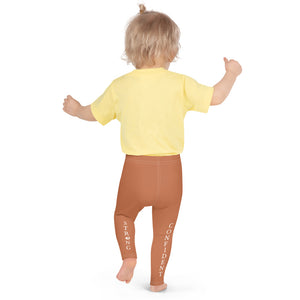 "Orange ""Strong and Confident"" Leggings Kids 2-7"