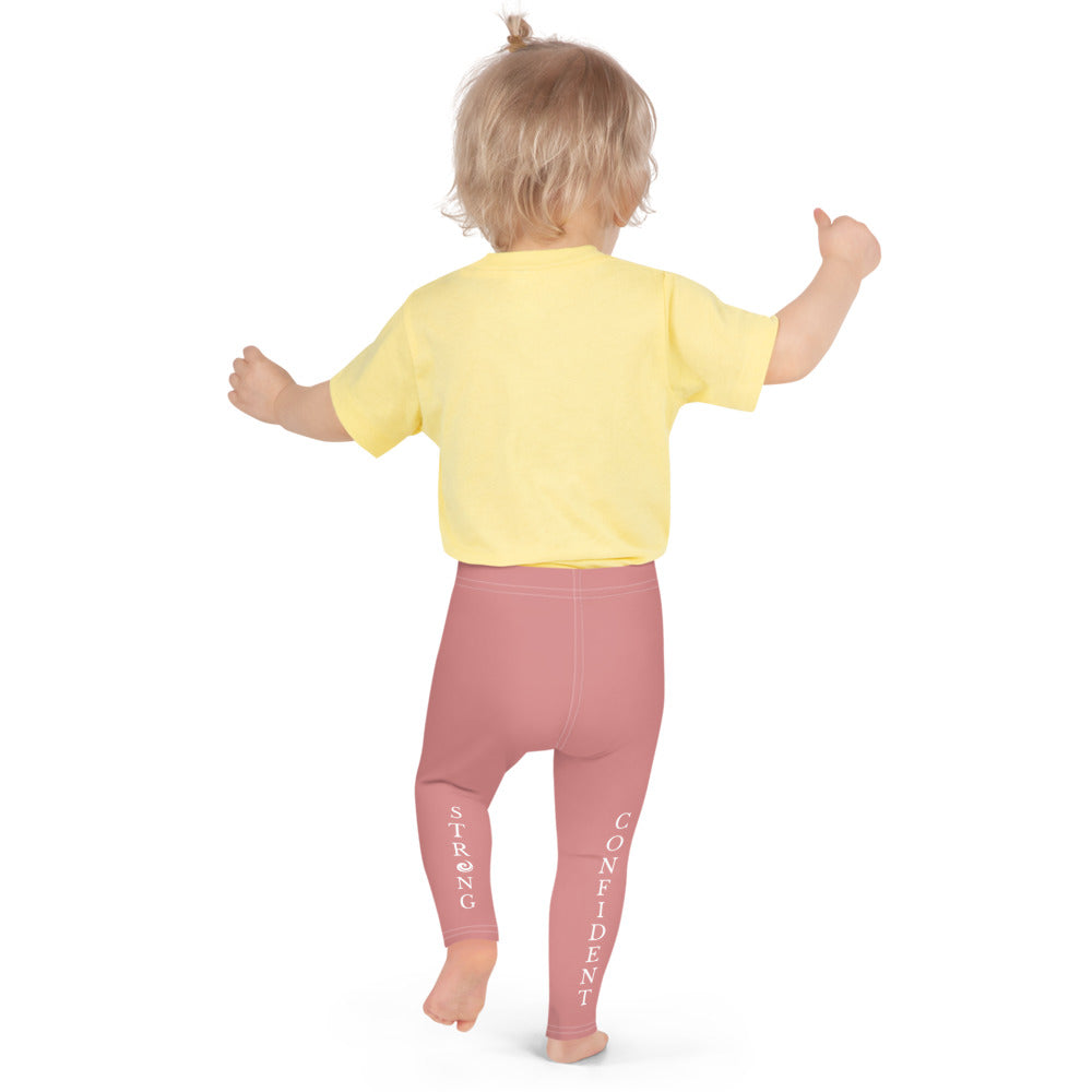 "Pink ""Strong and Confident"" Leggings Kids 2-7"