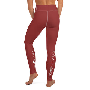 Red Strong and Confident Leggings