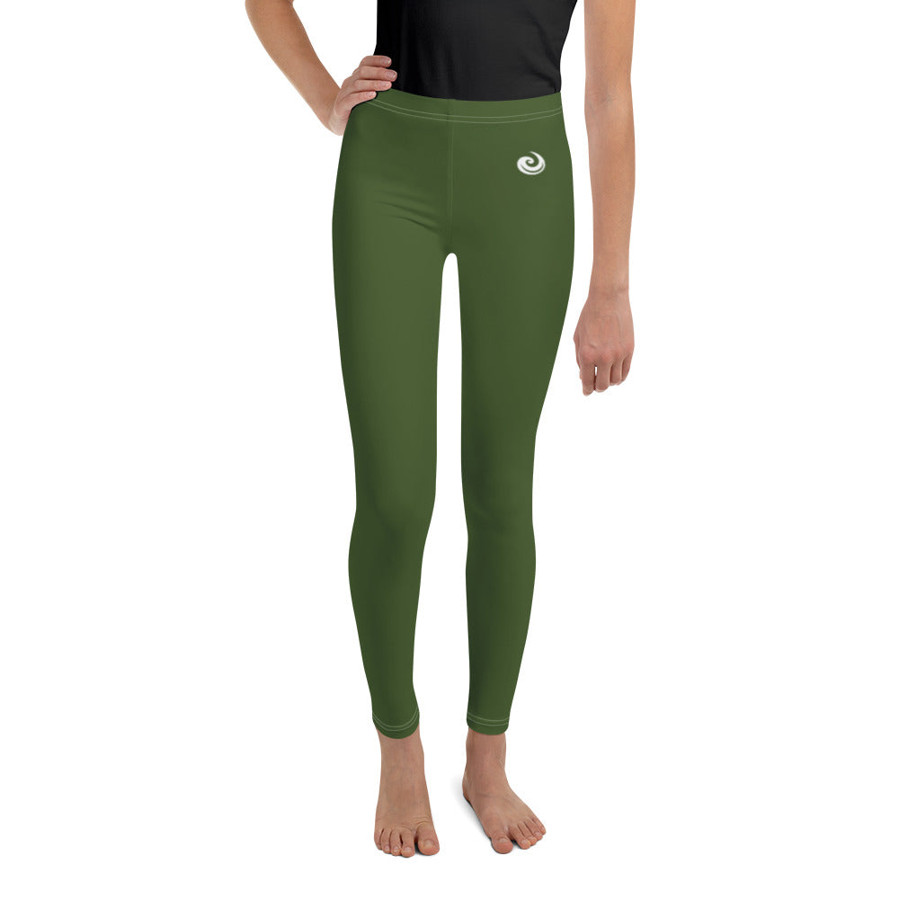 "Green ""Strong and Confident"" Leggings Youth 8-14"