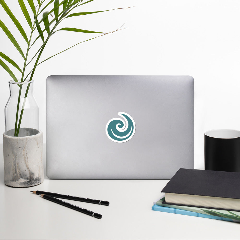 Blue Upspiral Sticker
