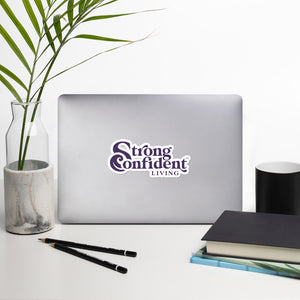 Strong Confident Living Logo Sticker