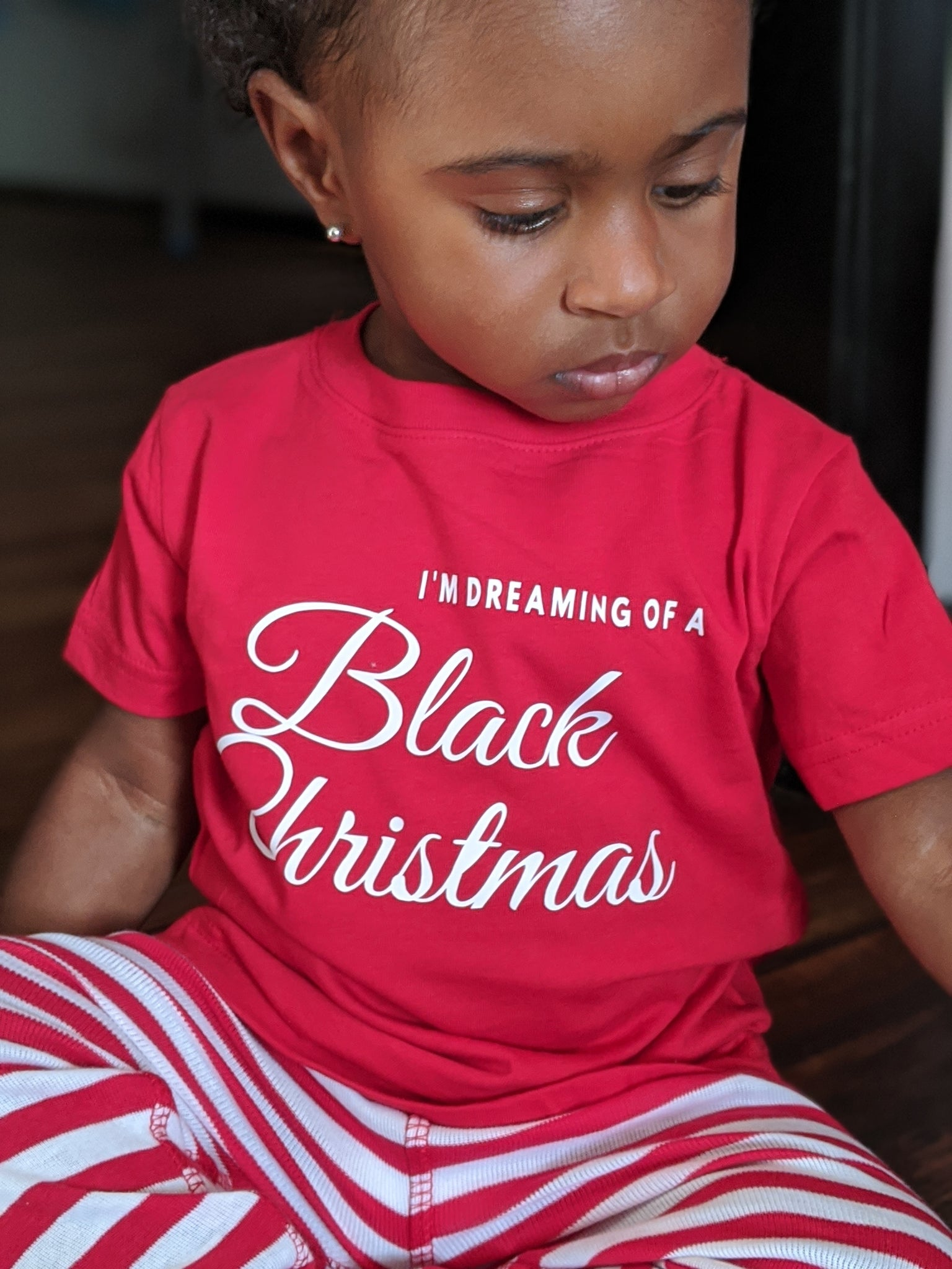 Black Christmas PJ set (red) - toddler & youth