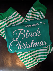Black Christmas PJ set (green) - infant