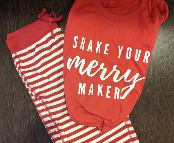 Shake Your Merry Maker PJ set (red) - adult