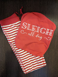 Sleigh All Day PJ set (red) - adult