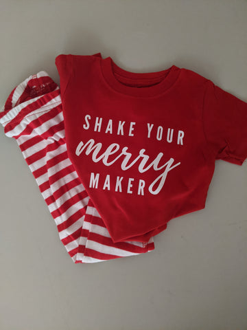 Shake Your Merry Maker PJ set (red) - toddler & youth