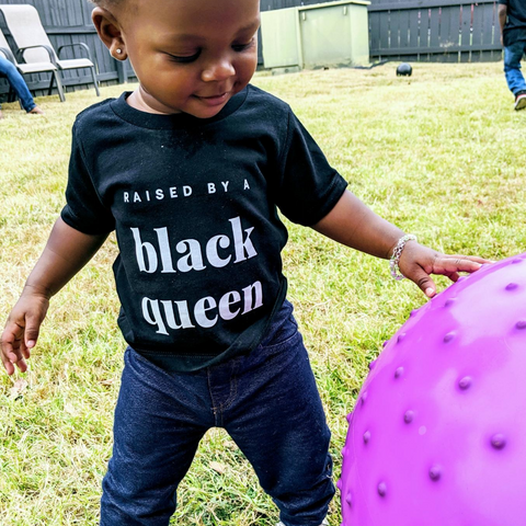 Raised by a Black Queen (white) - children
