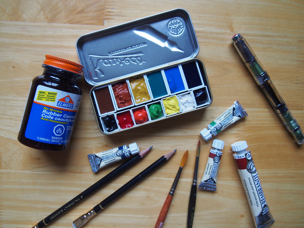Making a Watercolour Set in your Kaweco Tin Case