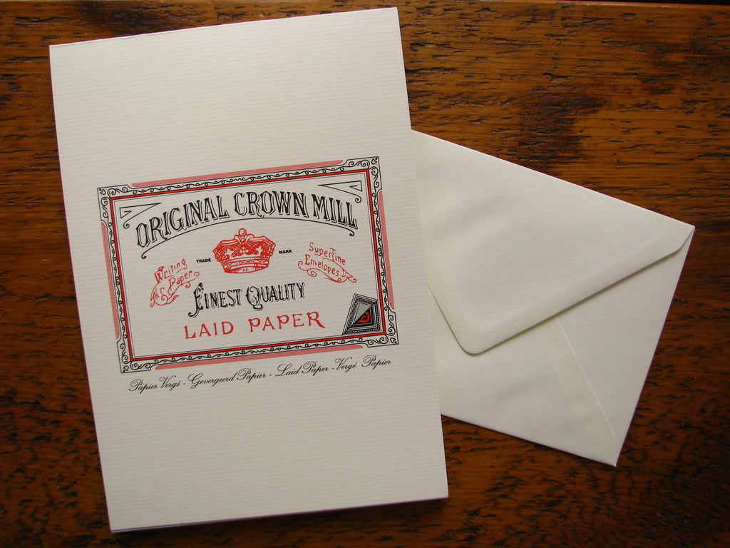 Original Crown Mill Classic Laid Writing Paper