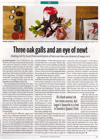 Maclean's - Three Oak Galls and an Eye of Newt