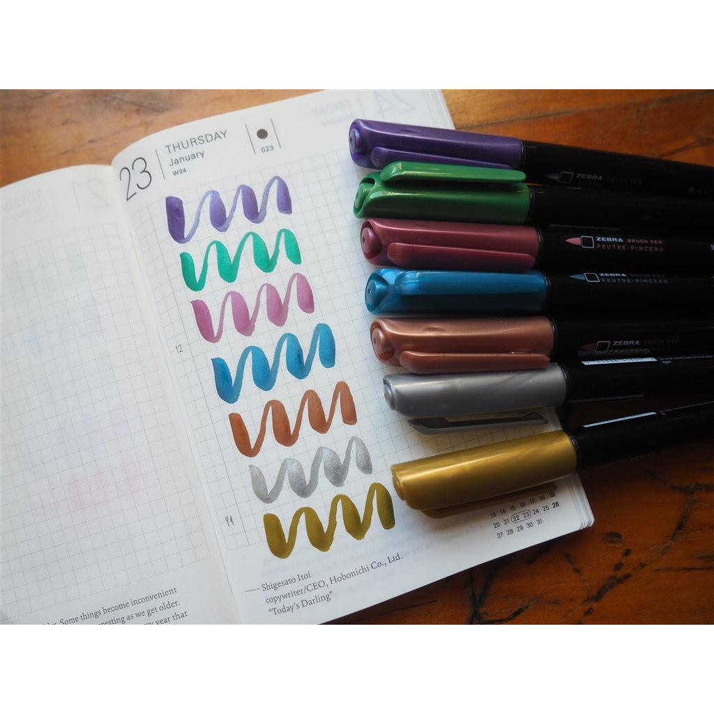 <center>Zebra Zensations Metallic Brush Pen - Medium - Pack of 7</center>
