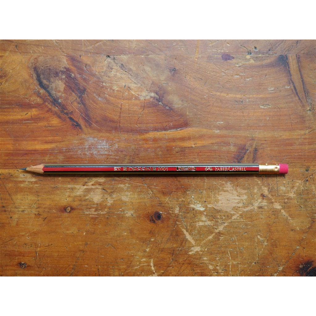 <center>Faber-Castell Dessin 2001 Pencil with Eraser </center>