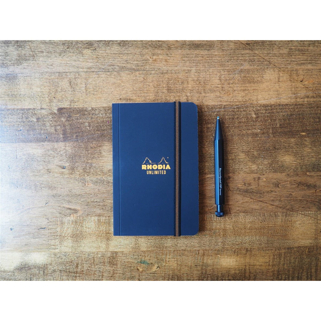 <center>Rhodia Unlimited A6 Notebook - Graph - Black</center>