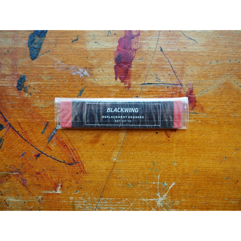 <center>Palomino Blackwing Replacement Erasers (pack of 10) - Red</center>