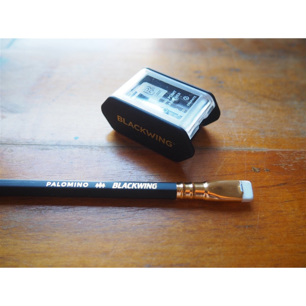 <center>Palomino Blackwing x KUM Two-Step Long Point Sharpener - Black</center>