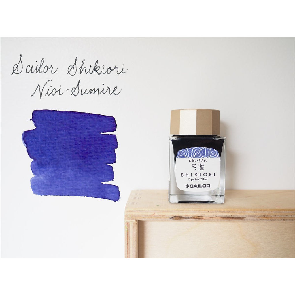 <center>Sailor Shikiori Fountain Pen Ink (20mL) - Nioisumire</center>