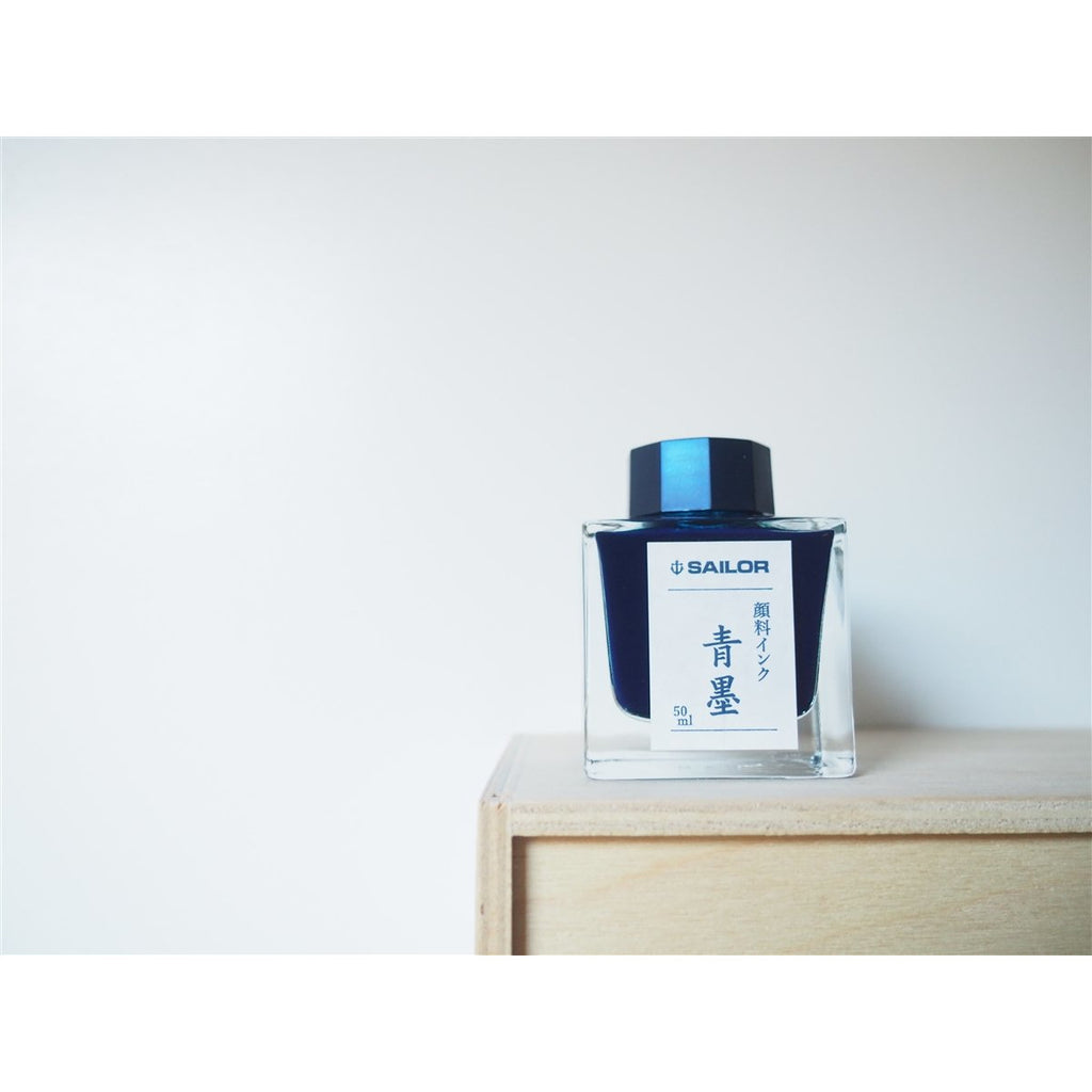 <center>Sailor Bottled Fountain Pen Ink (50mL) - Sei-Boku Nano Carbon Blue-Black</center>