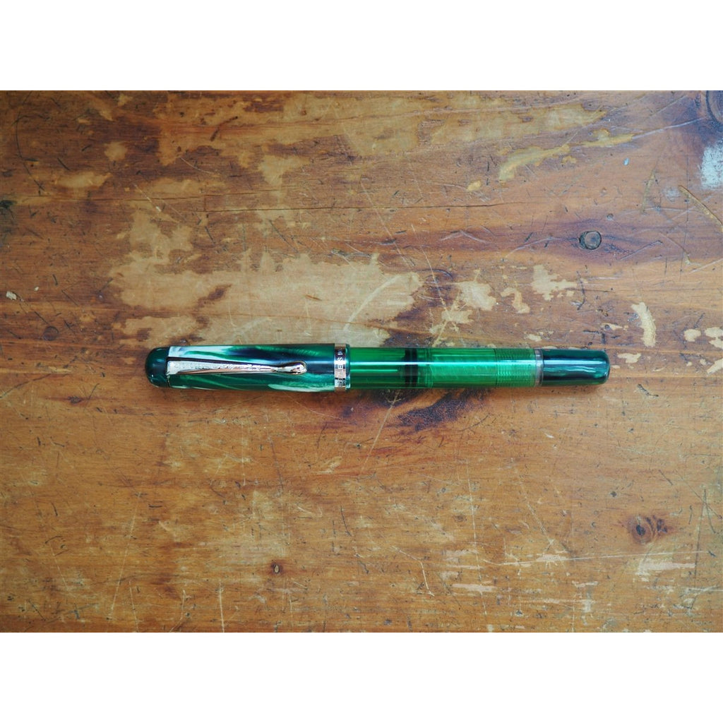 <center>Noodler's Konrad Piston Filler Flex Fountain Pen - Qufu Jade</center>
