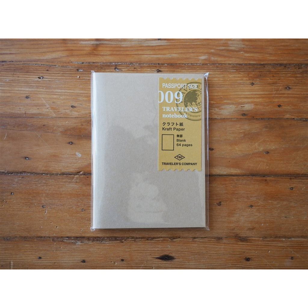 <center>Traveler's Notebook Passport Size Refill - 009 Kraft Paper</center>